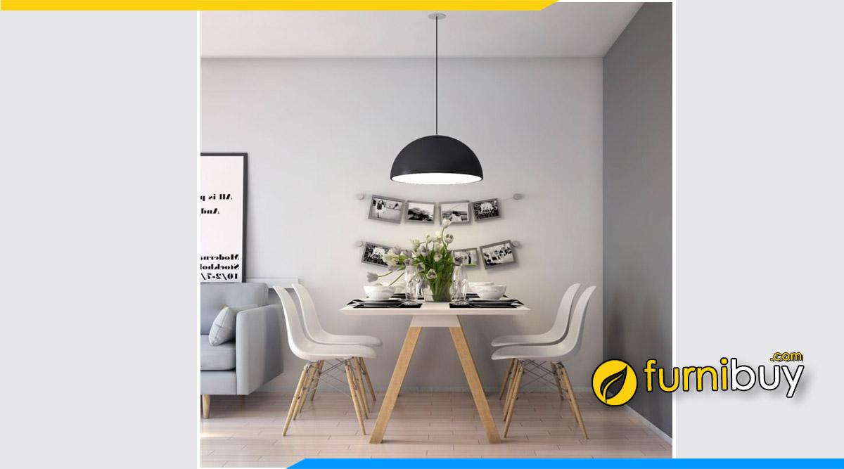 Hình ảnh Bàn ghế ăn Scandinavian kết hợp đèn thả bàn ăn đẹp