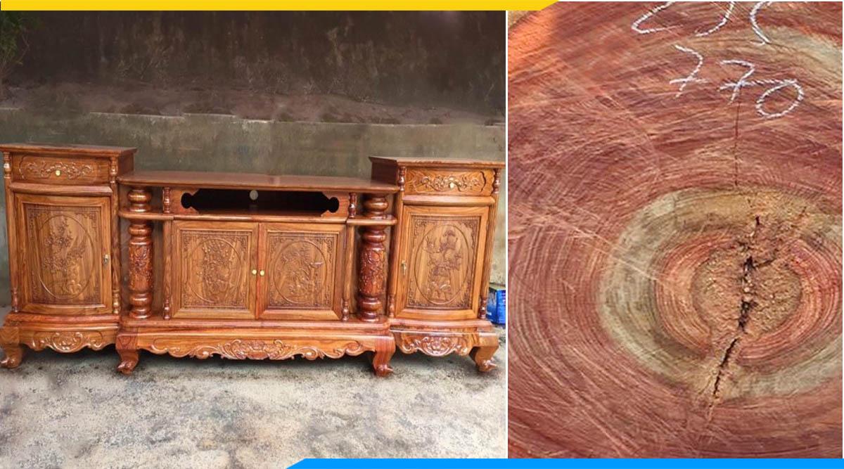 Đặc điểm kệ tivi gỗ hương vân tự nhiên