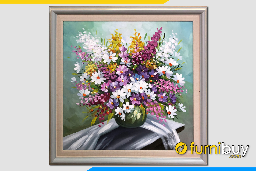 Buc tranh dep ve son dau binh hoa bon mua