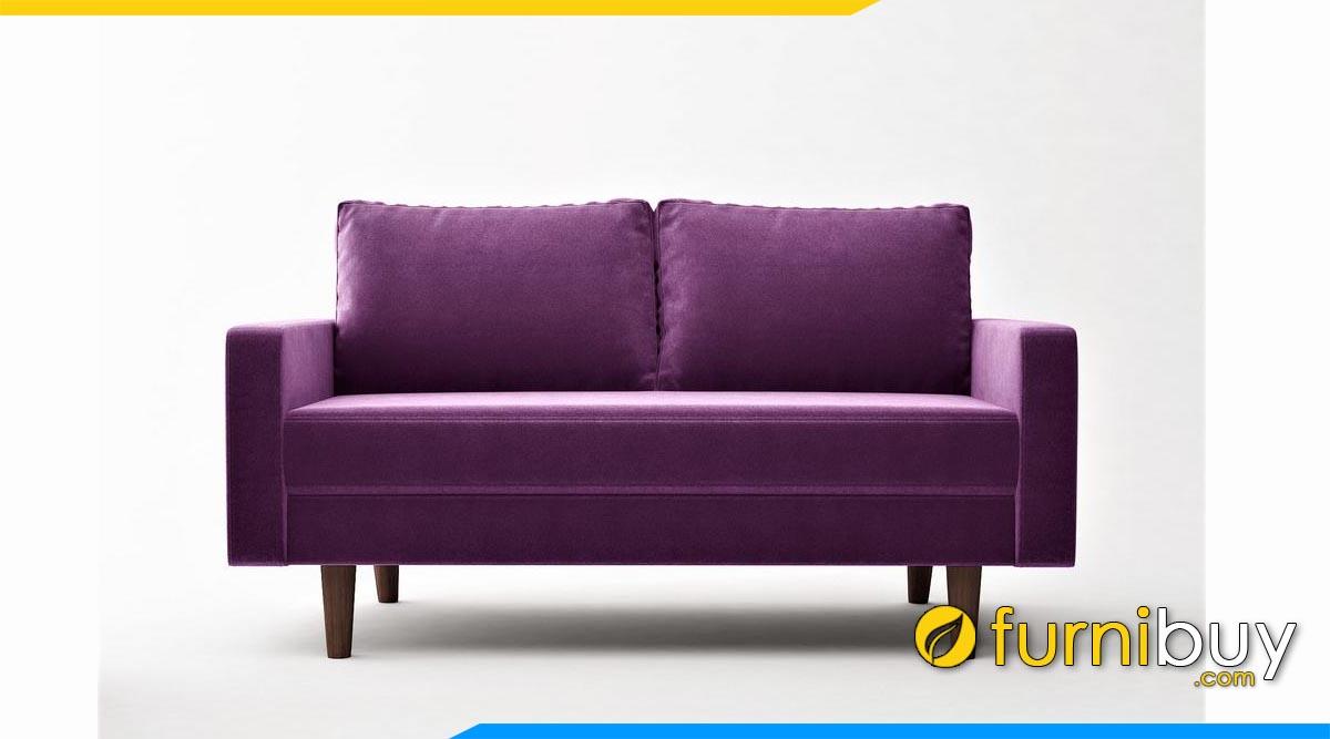 ghe sofa bang 2 cho ngoi mau tim