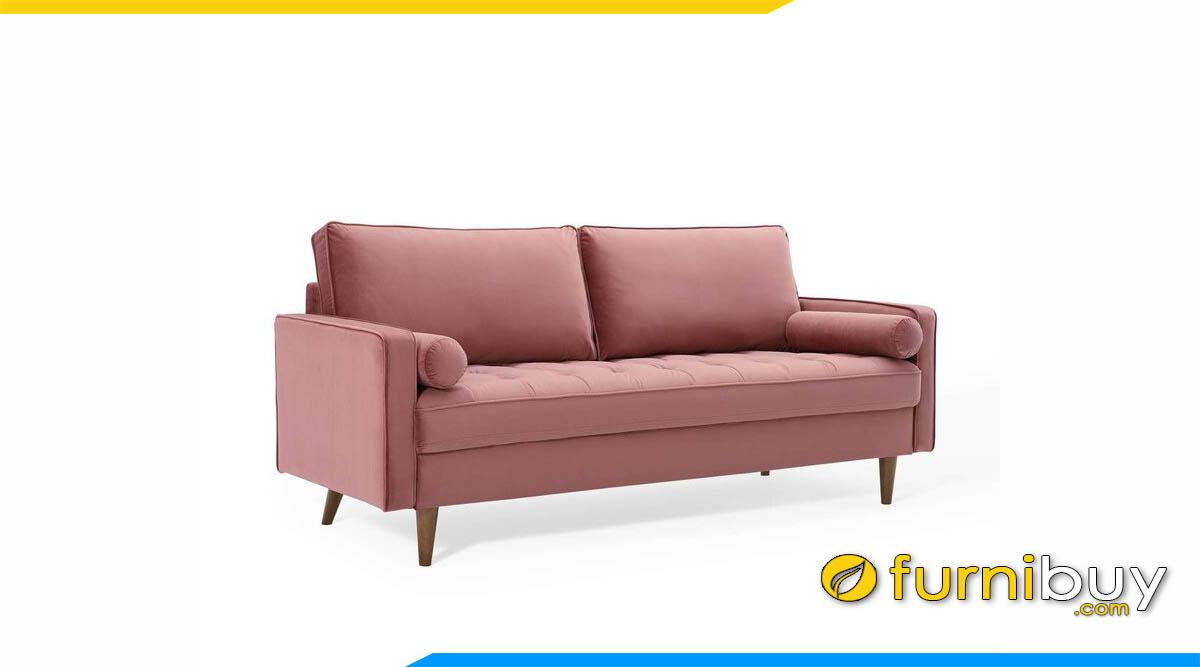 ghe sofa vang 2 cho ngoi mau hong san ho