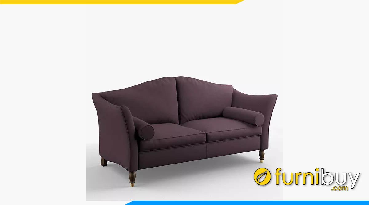 ghe sofa vang boc ni mau tim