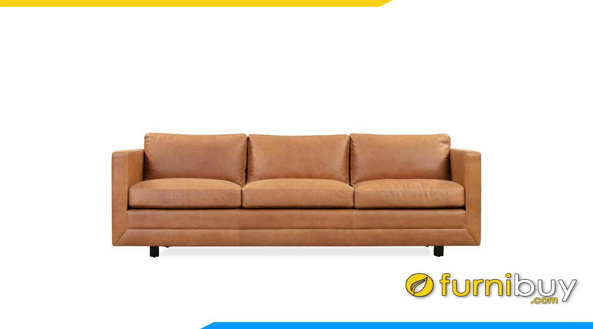ghe sofa vang dai mau nau da bo sang trong