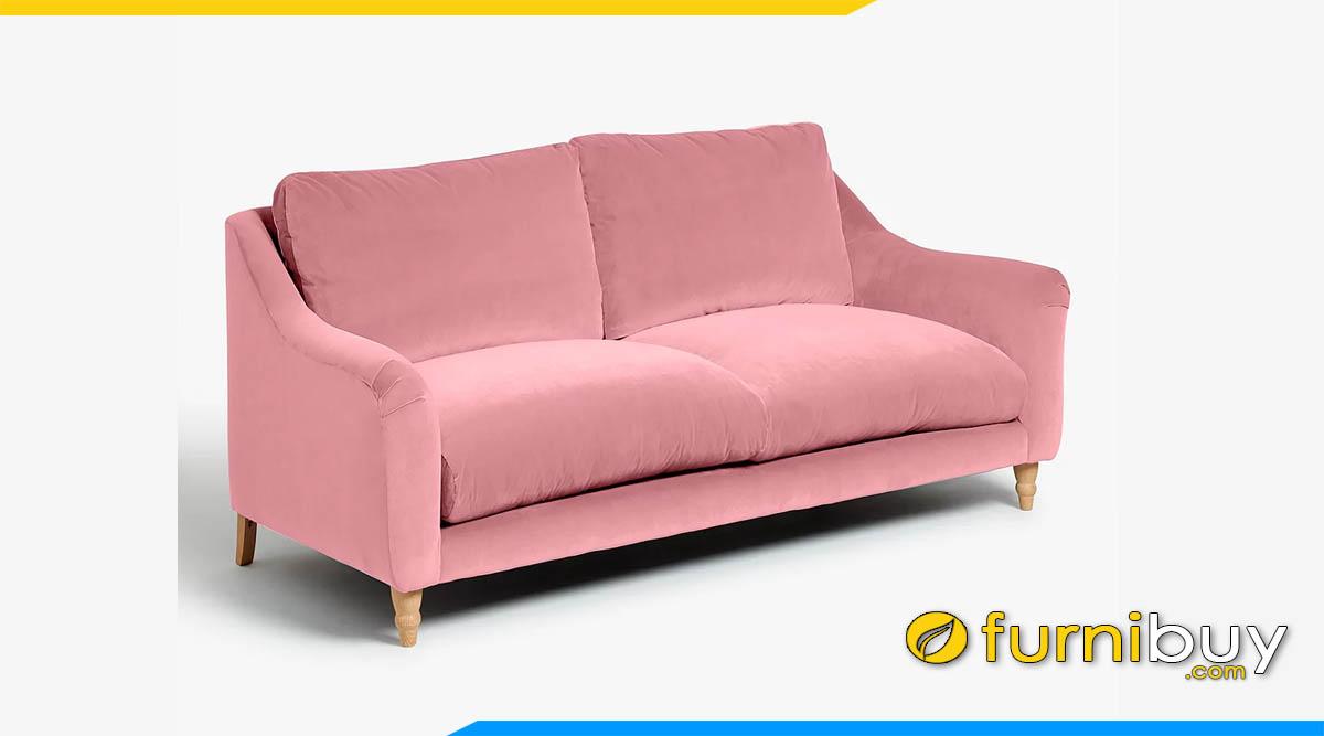 ghe sofa vang dep 2 cho ngoi mau hong phan