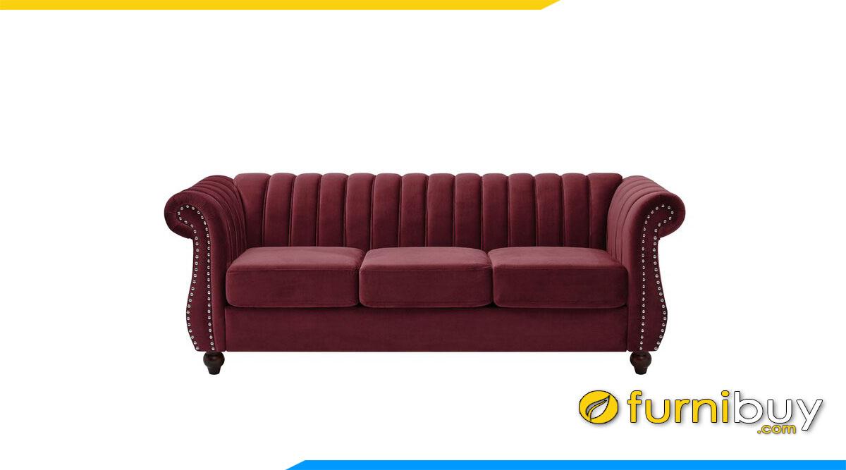 sofa vang mau do tham 3 cho ngoi