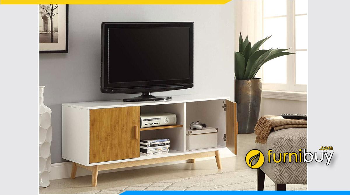 Mẫu kệ tivi gỗ Hòa Bình kê phòng khách