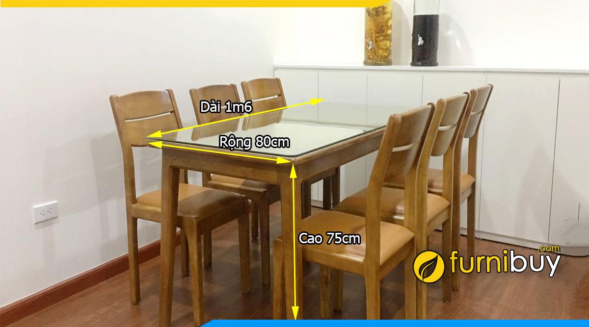 Kích thước bàn ăn 1m6 chuẩn nhất