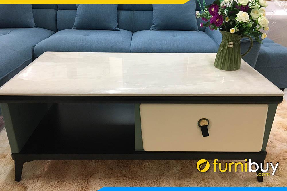 Hình ảnh Mẫu bàn trà nhập khẩu chân gỗ cao hiện đại FBBTR500