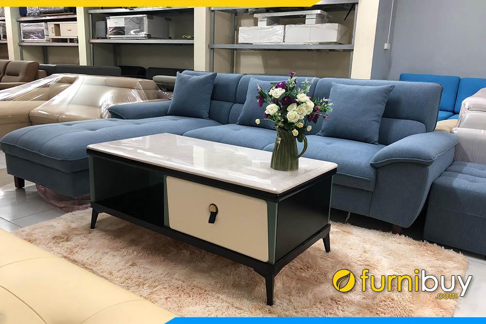 Hình ảnh Mẫu bàn trà sofa mặt đá nhập khẩu sang trọng FBBTR500