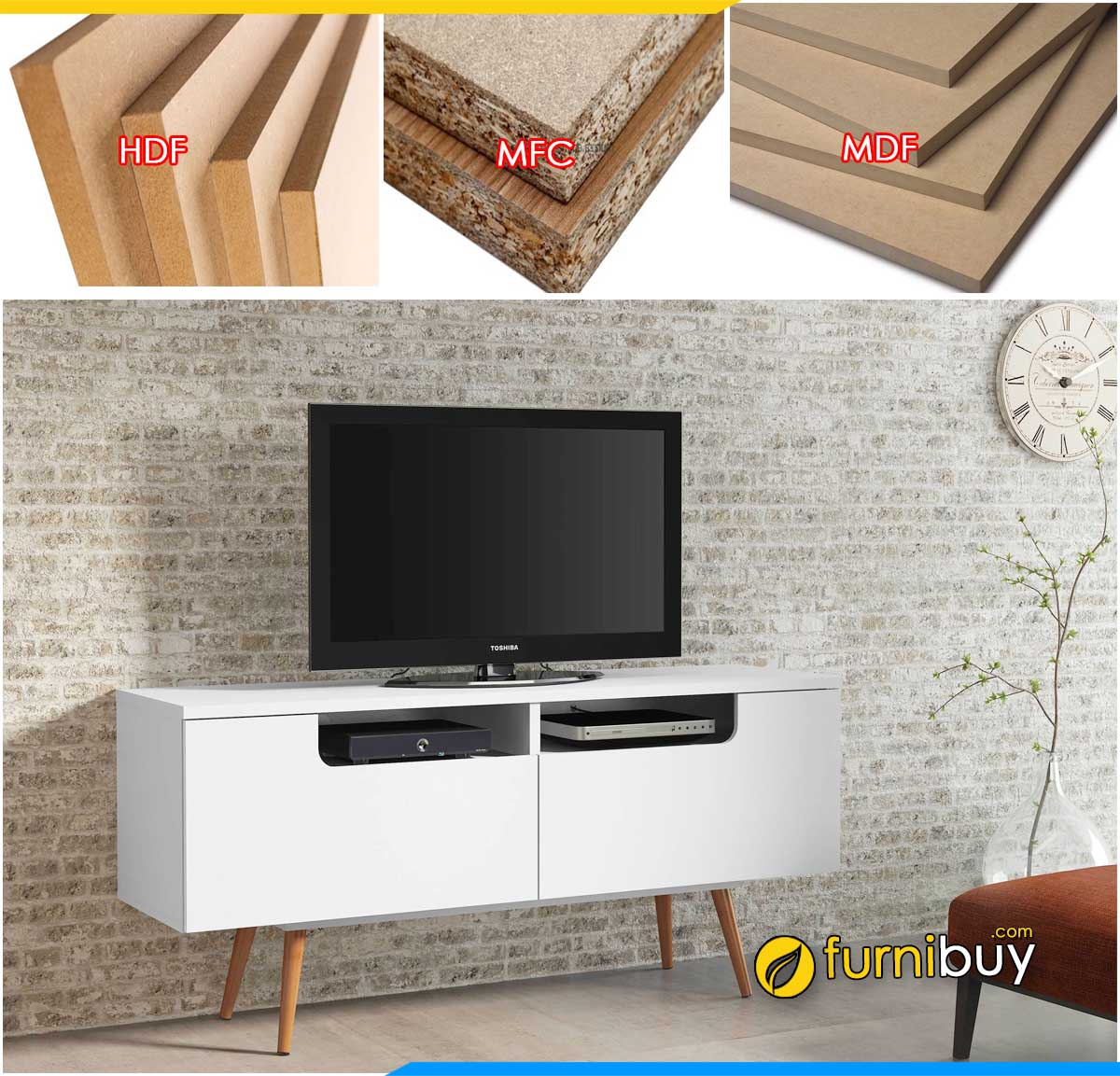 Mẫu kệ tivi gỗ ép công nghiệp giá rẻ