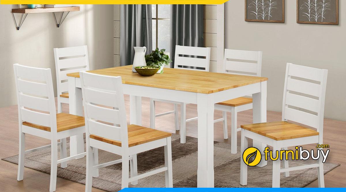 Nên mua bàn ăn 6 ghế gỗ cao su không?