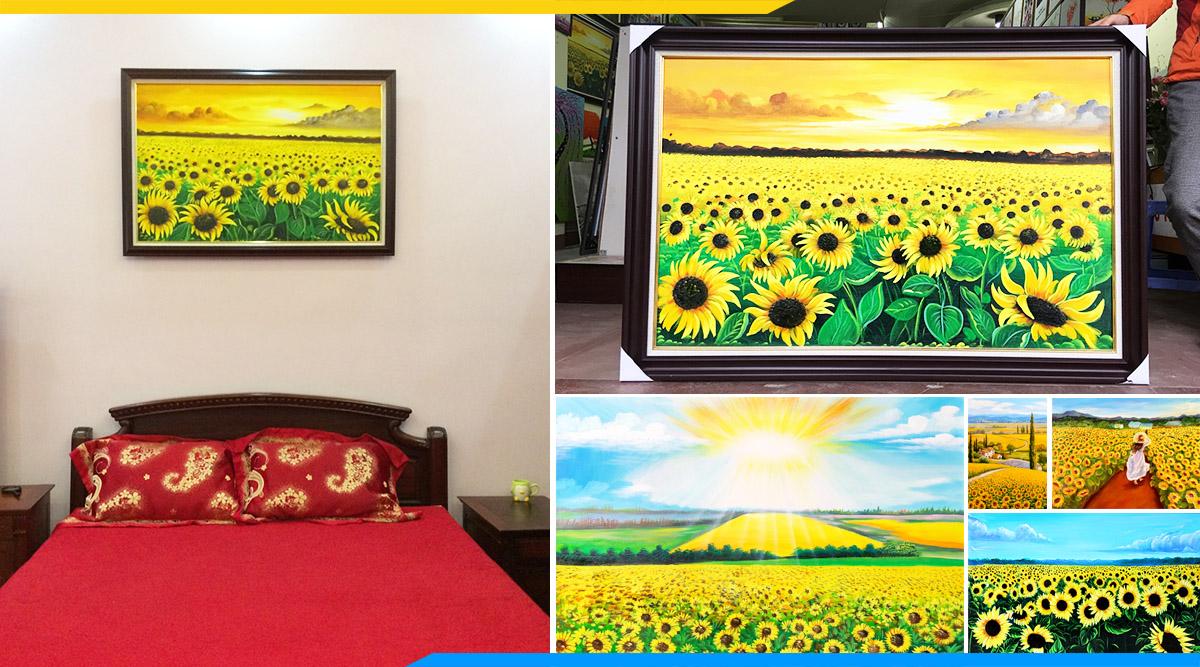 Nhung buc tranh ve son dau hoa huong duong dep nhat