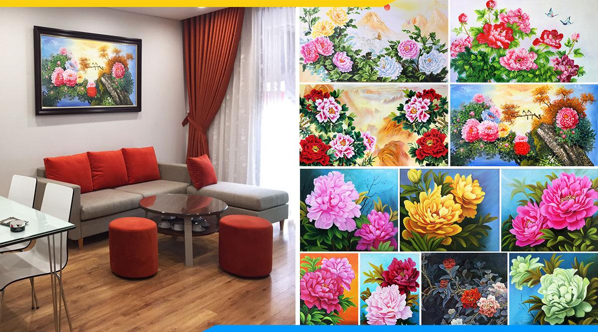 Nhung buc tranh son dau hoa mau don dep nhat