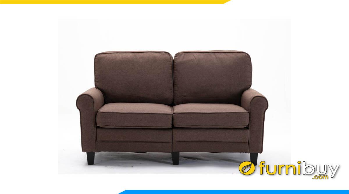 sofa 2 cho ngoi mau nau tim kieu dang don gian