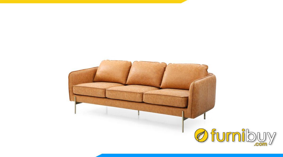 sofa 3 cho ngoi mau da cam nhat