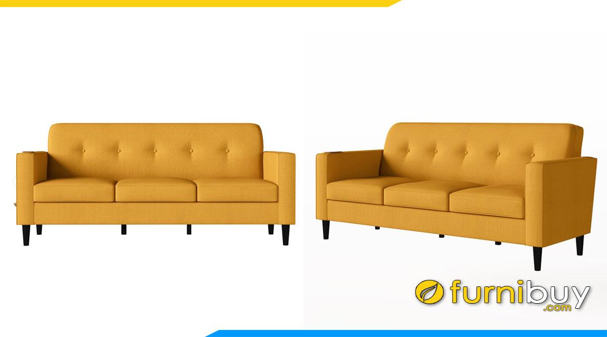 sofa 3 cho ngoi mau vang nau may rut chi tua lung