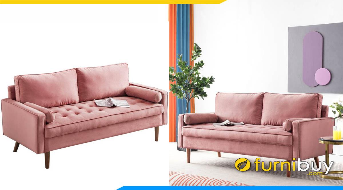 sofa bang 2 cho ngoi mau hong