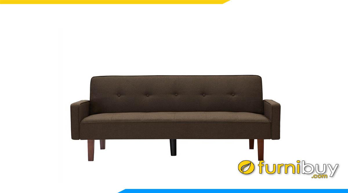 sofa bang dai hien dai mau nau den don gian