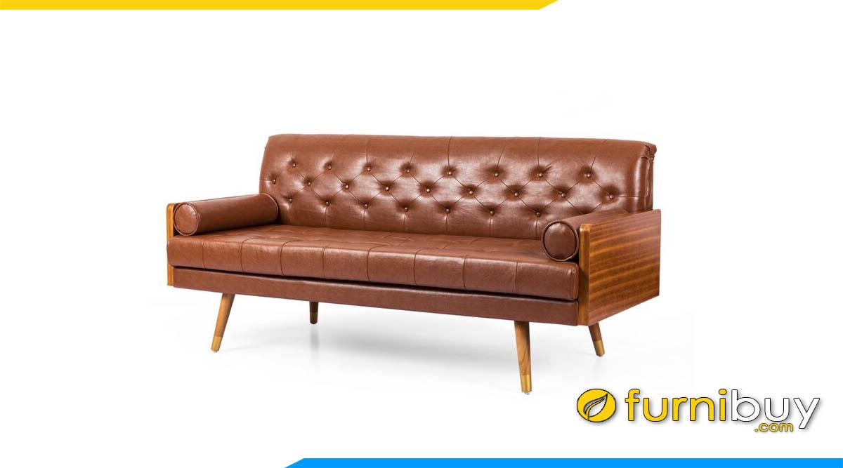 sofa bang dai de go boc da cao cap mau nau