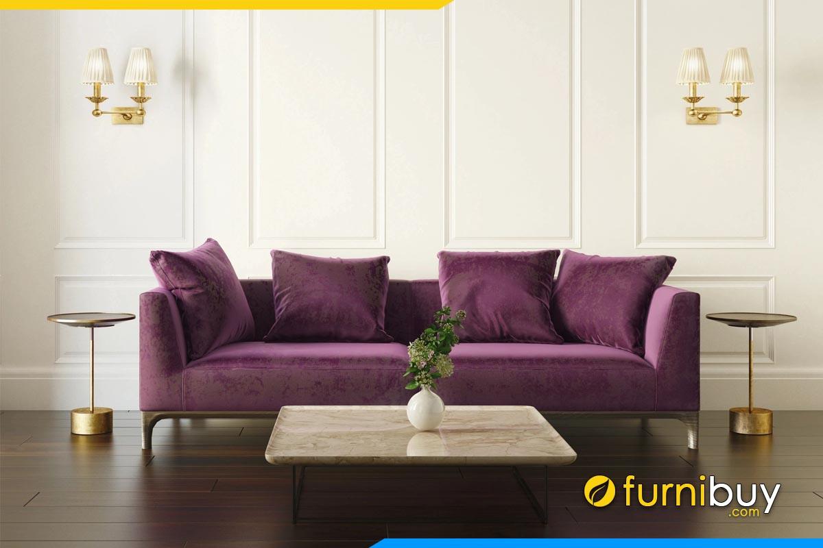 sofa bang ke phong khach mau tim