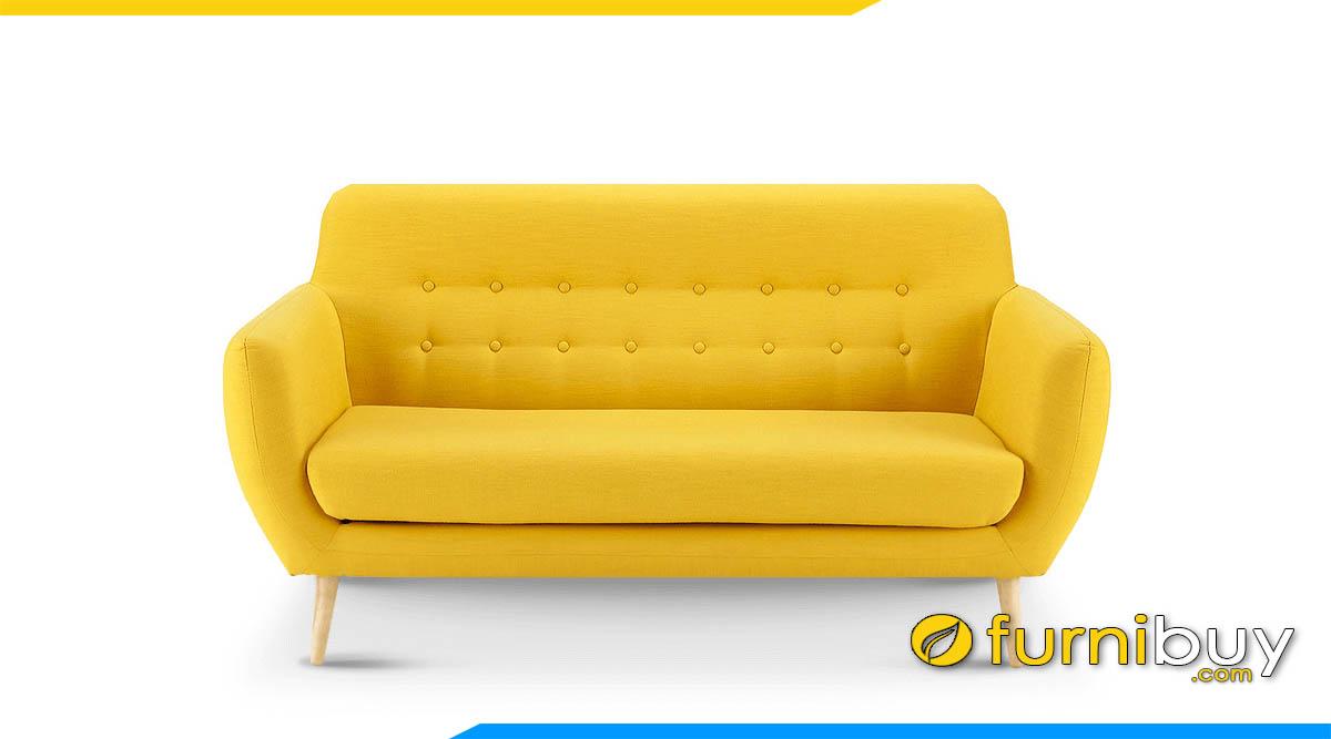 sofa bang mau vang nho xinh 2 cho ngoi