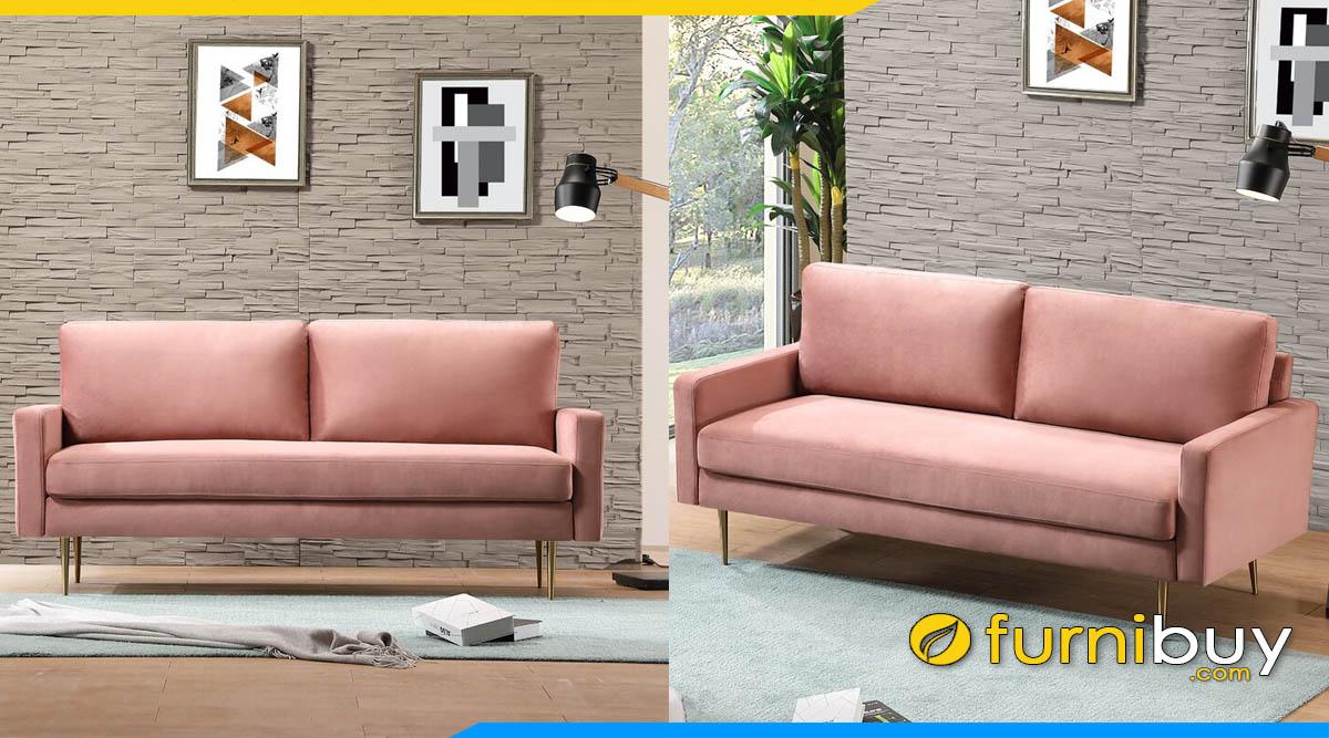 sofa bang ni ke phong khach mau hong pastel