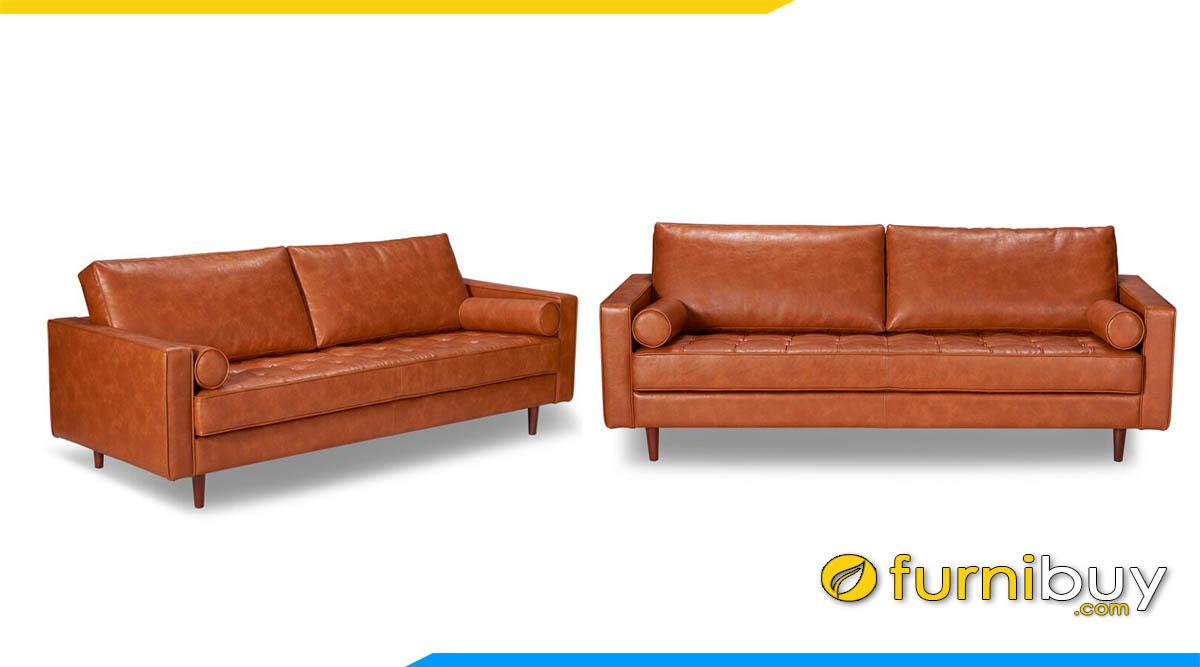 sofa da mau nau dong 2 cho ngoi hien dai