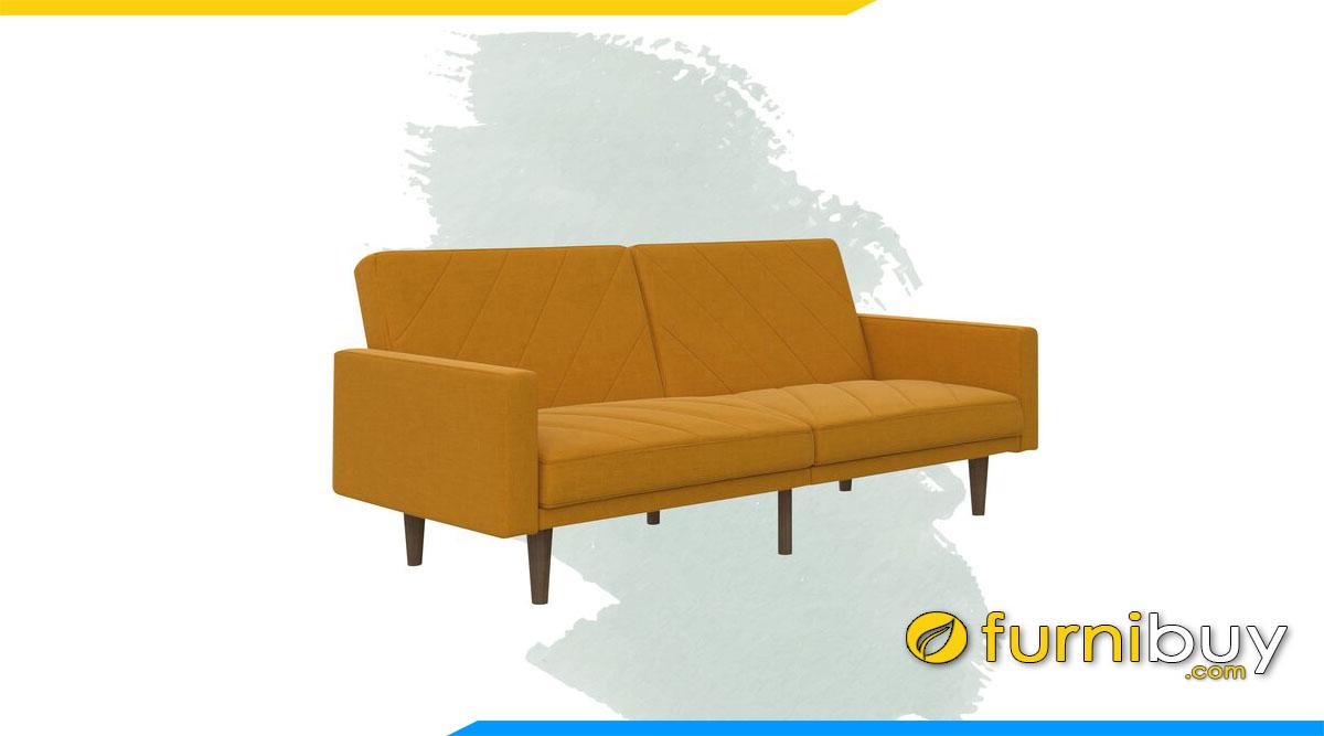 sofa don gian mau vang nau chan de cao