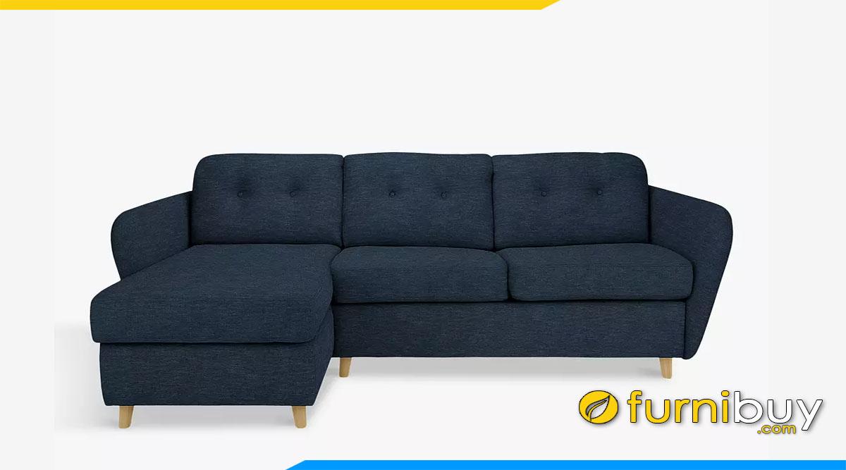 sofa goc boc ni mau xanh coban