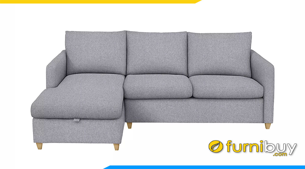 sofa goc chu l boc ni mau xam