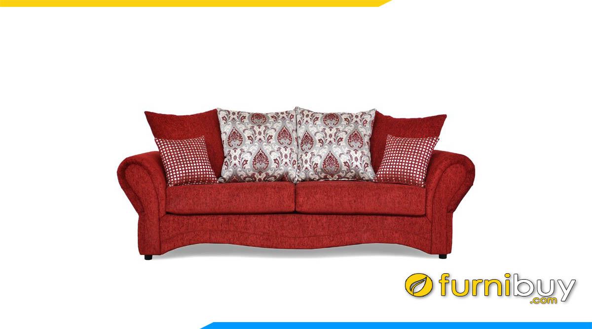 sofa luxury mau do boc ni sang trong