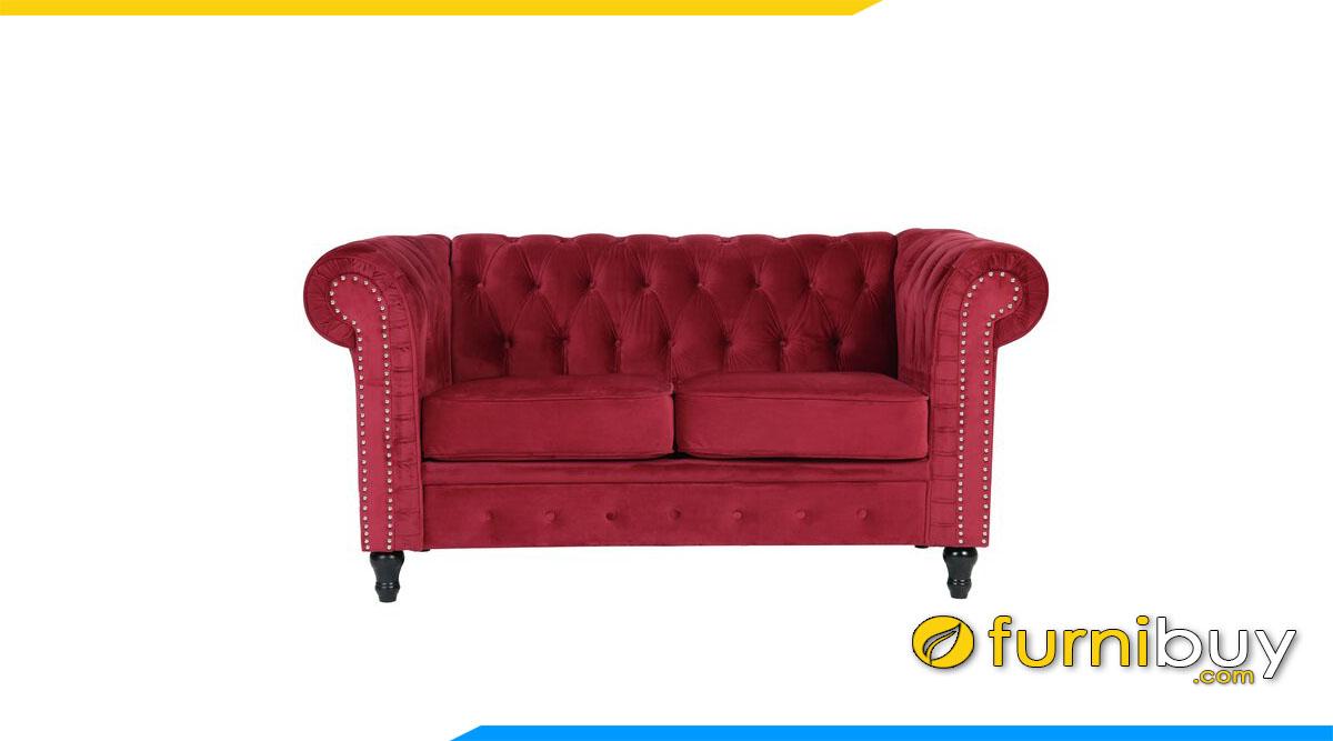 sofa mini nho xinh 2 cho ngoi mau do