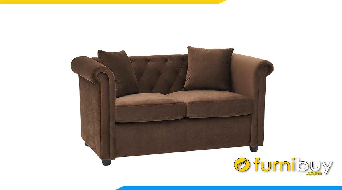 sofa mini nho xinh dang vang luxury mau nau