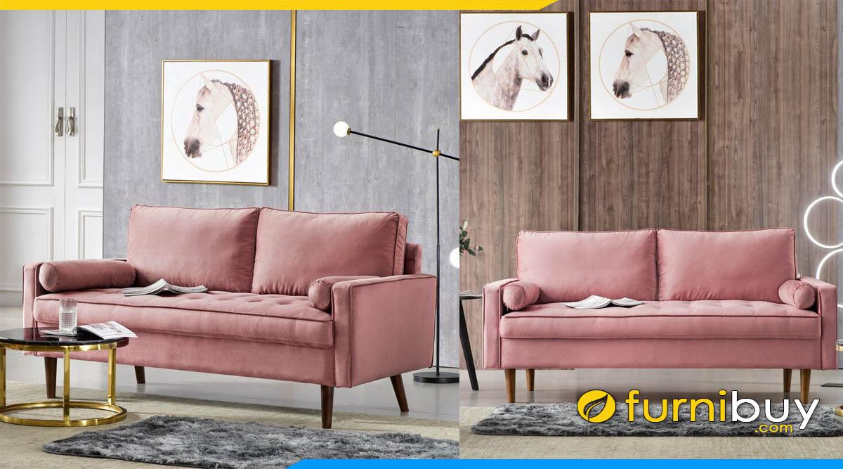 sofa phong khach dang vang ni 2 cho ngoi