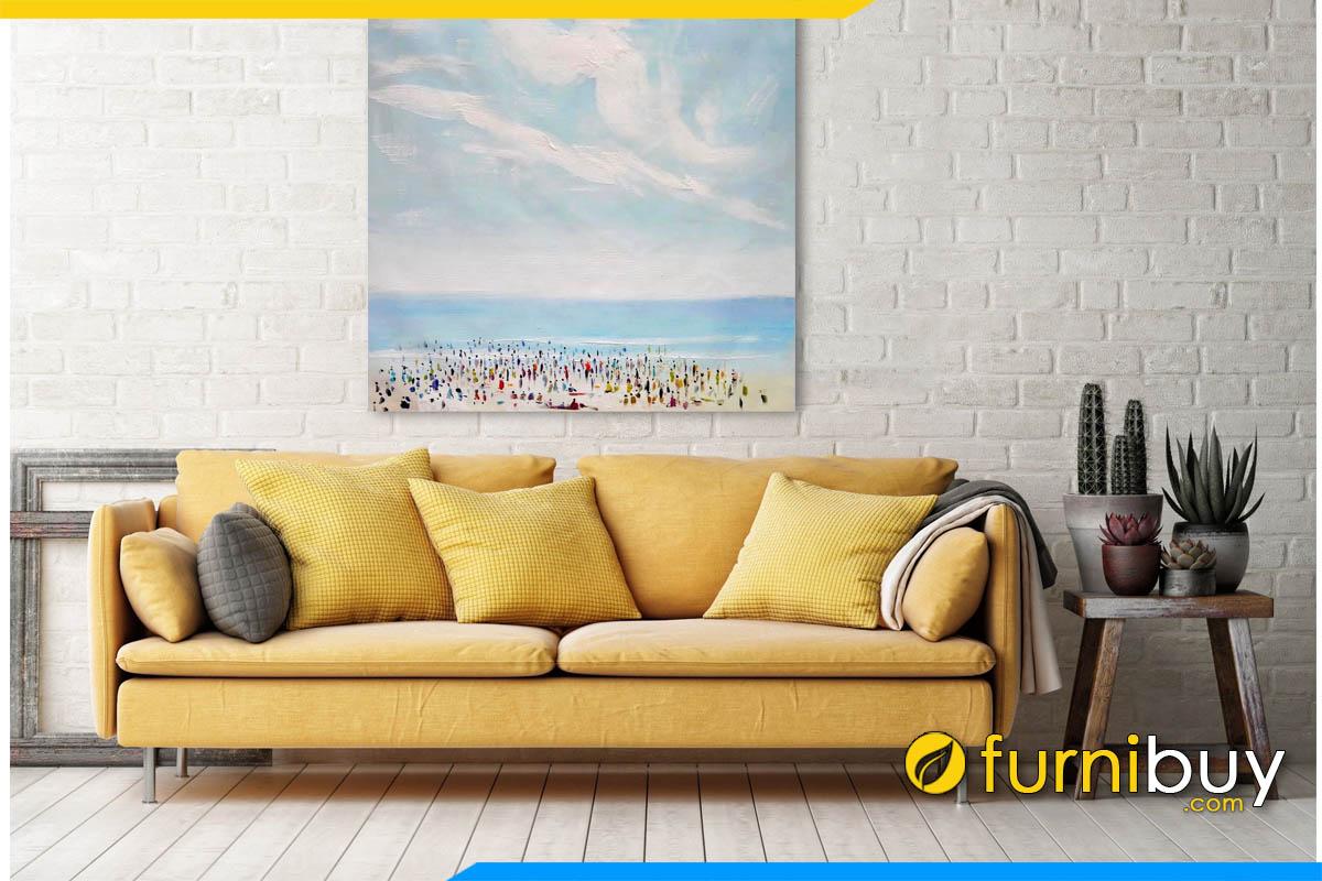 sofa phong khach dep dang vang 2 cho ngoi mau vang