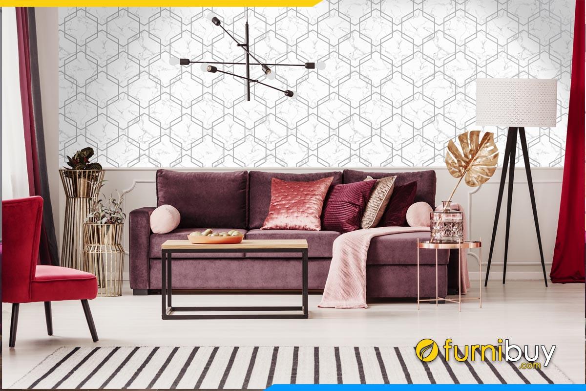 sofa phong khach hien dai dang vang 3 cho ngoi mau tim