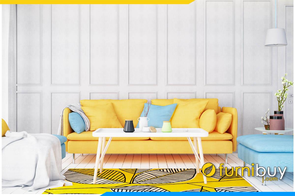 sofa phong khach mau vang dep tre trung