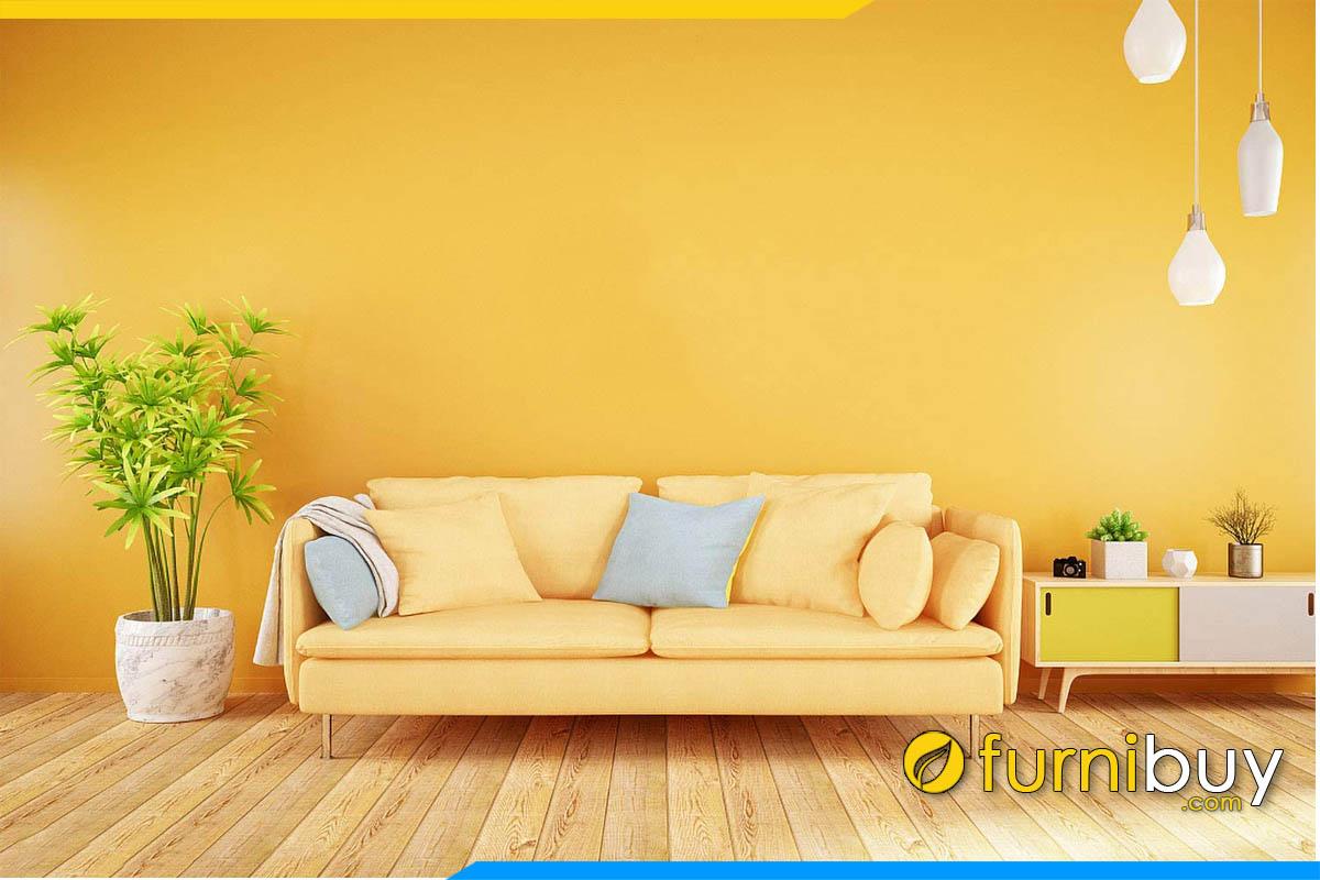 sofa phong khach mau vang nhat cuc dep