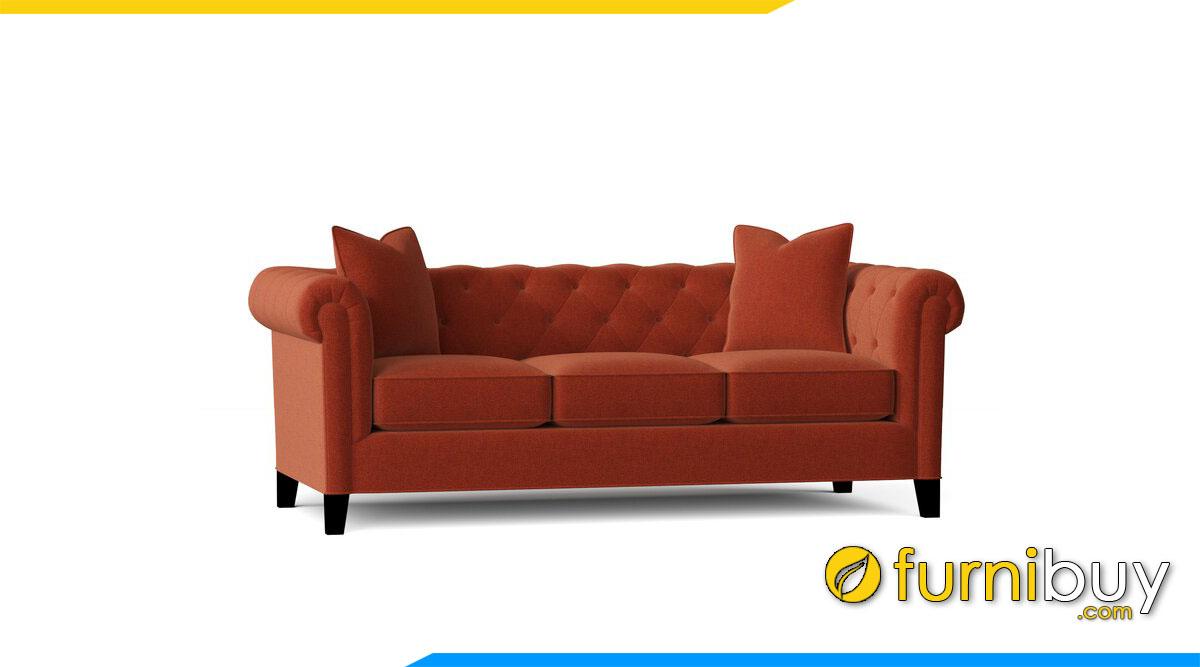 sofa tan co dien mau da cam dat 3 cho ngoi