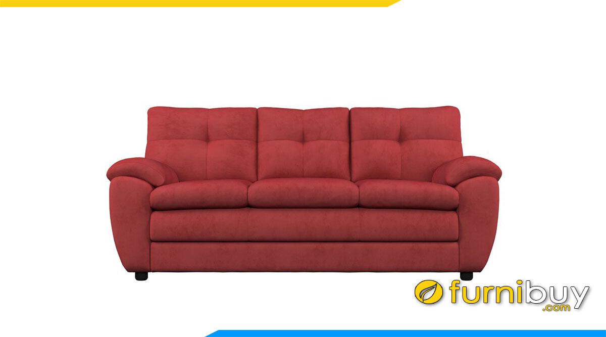 sofa tay tua thap mau do boc ni dem mut day