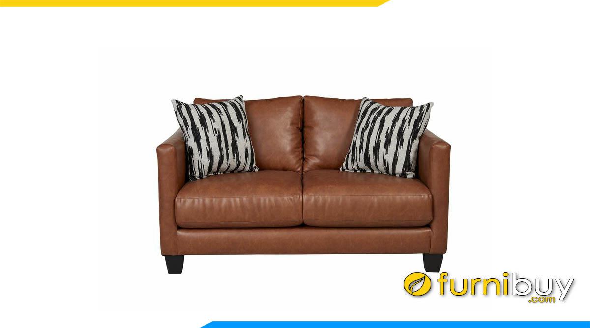 sofa vang 2 cho ngoi mau nau nho xinh
