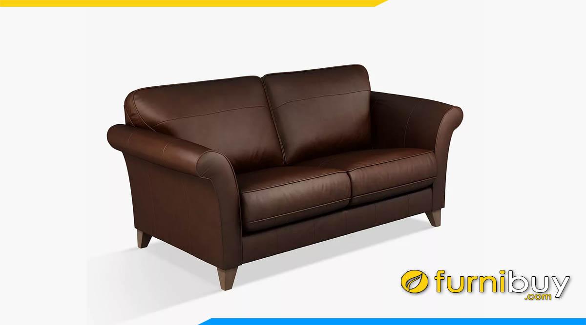 sofa vang 2 cho ngoi mau nau tay