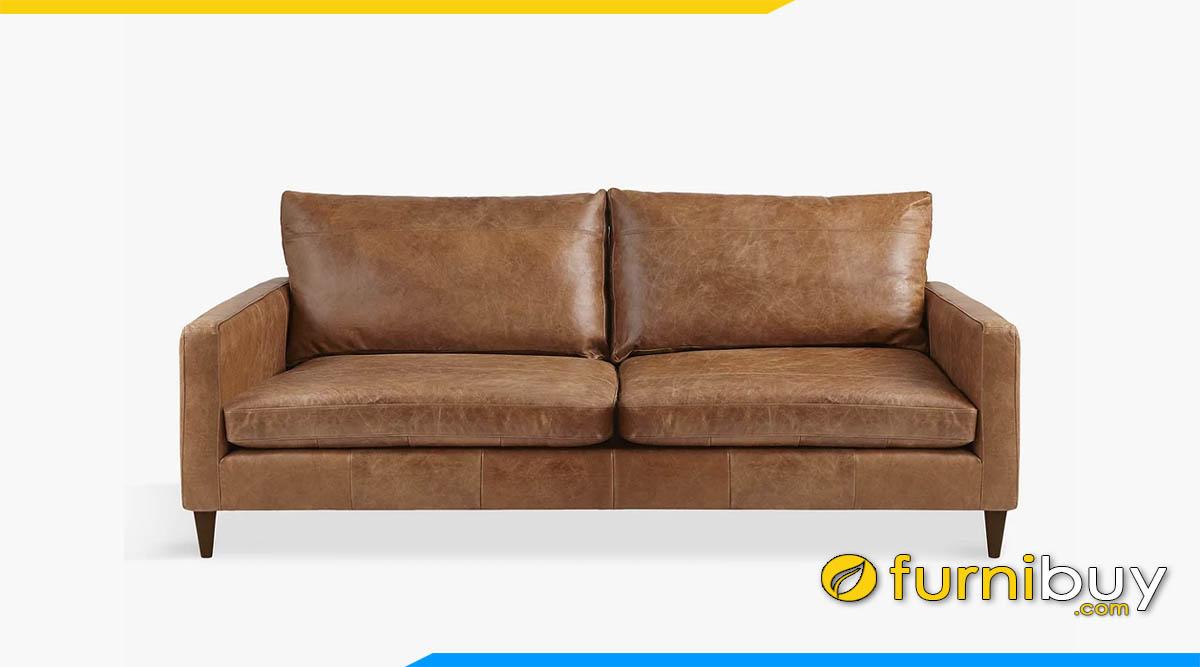 sofa vang 2 cho ngoi mau nau tay cuc ki sang trong