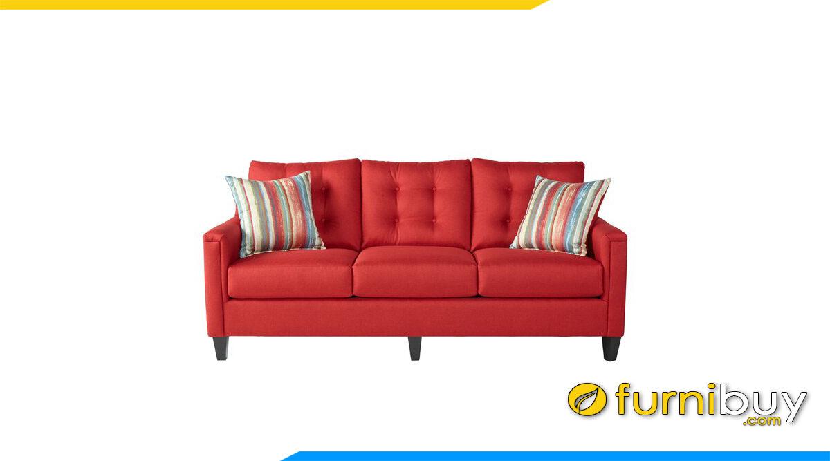 sofa vang 3 cho ngoi ke phong khach mau do