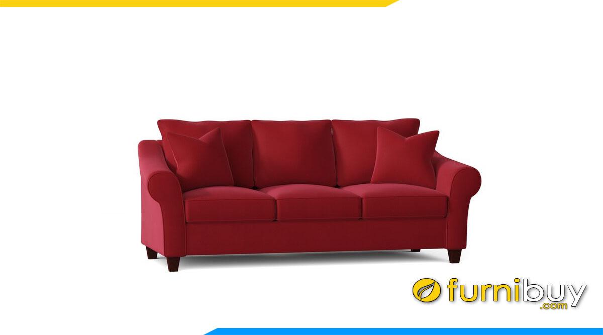 sofa vang 3 cho ngoi mau do ke phong khach