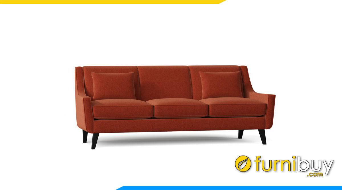 sofa vang 3 cho ngoi tay vin thap mau cam dat