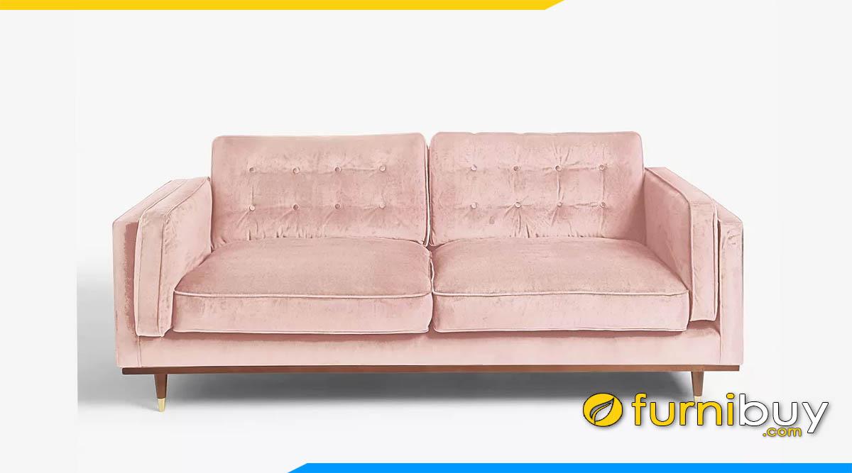 sofa vang boc ni 2 cho ngoi mau canh hong