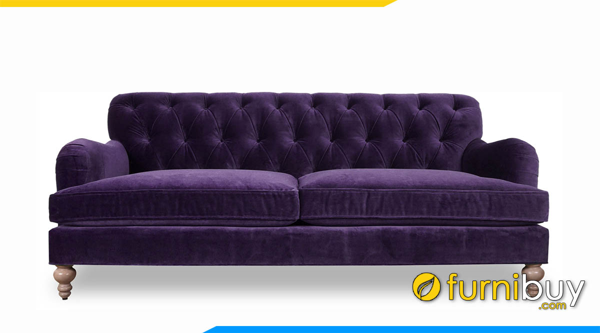 sofa vang co dien mau tim tay tua ngan
