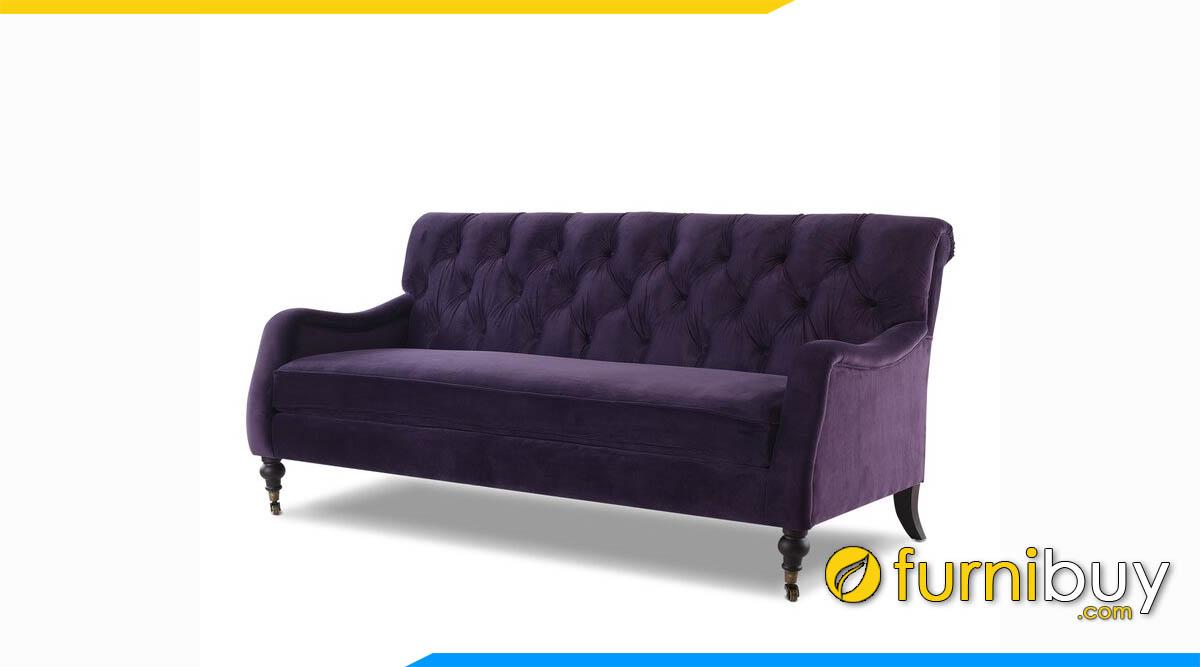 sofa vang co dien mau tim tay tua thap
