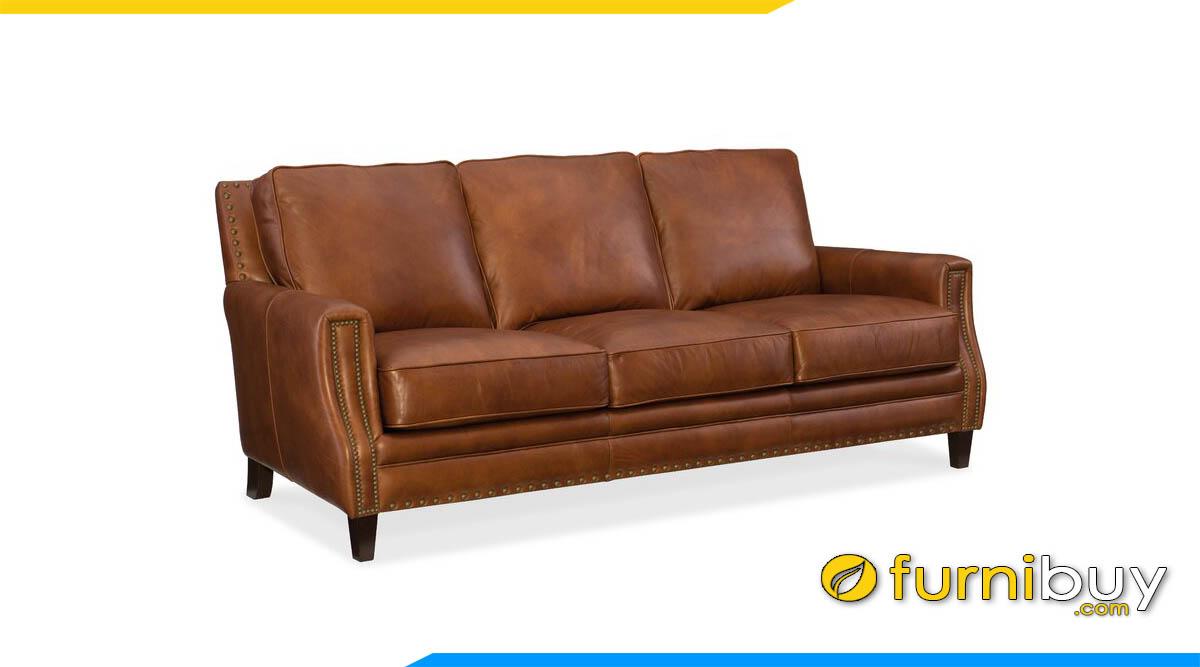sofa vang da bo 3 cho ngoi cao cap